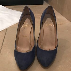 Electric Blue Christian Louboutin Round Toe Pumps